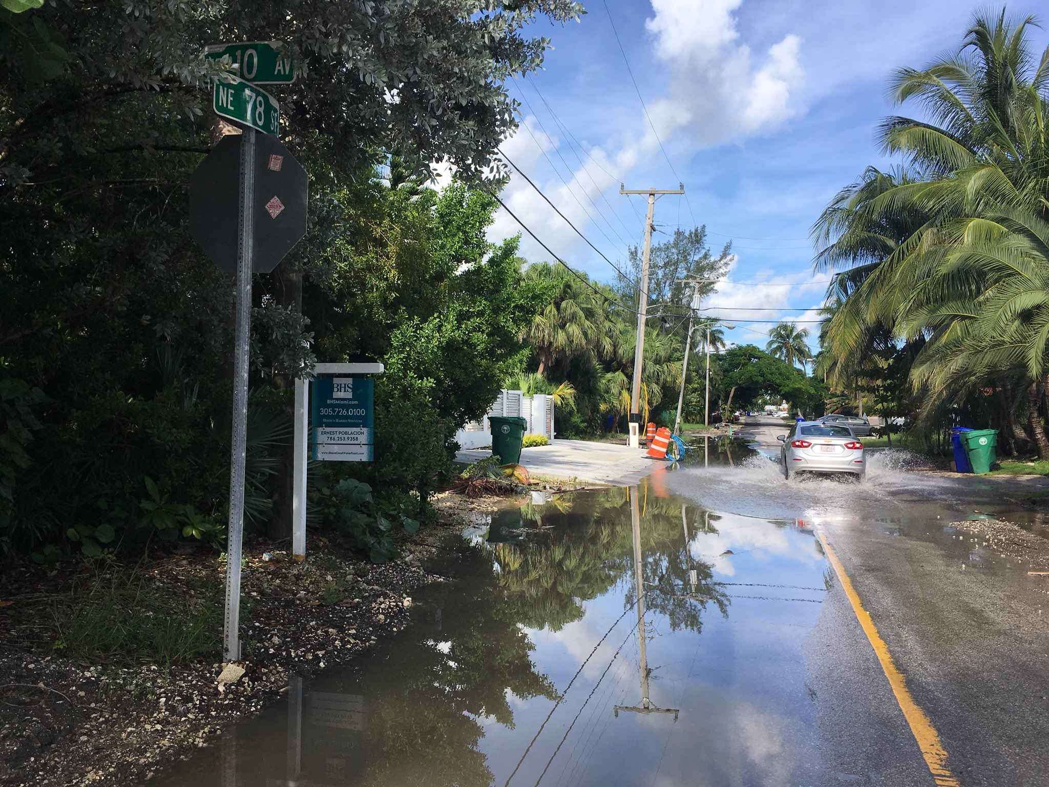 LIVE: #kingtide flooding this morning in Shorecrest, Miami #sealevelrise